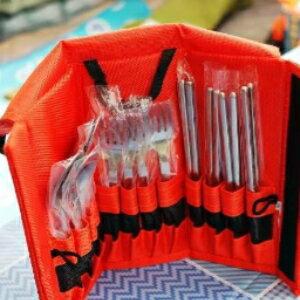 美麗大街【CF2233】新款出口韓國餐具套裝不銹鋼勺子筷子叉子套裝高品質1680D牛津布
