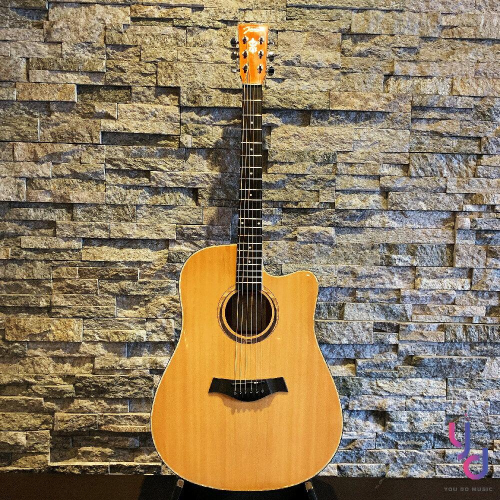 現貨免運 贈千元配件 美國品牌 Johnson JG-DCN 面單板 民謠 木 吉他 D桶身 原木亮光