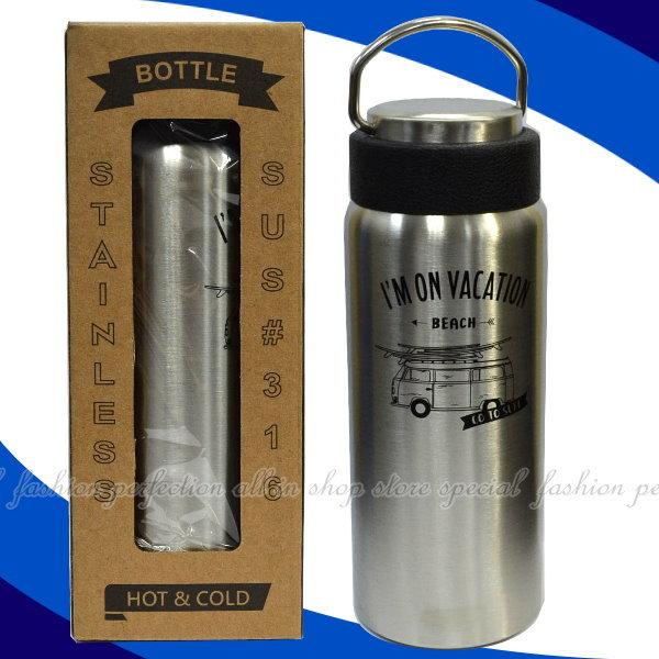 LINOX天堂鳥陶瓷保溫瓶316不鏽鋼陶瓷保溫瓶500ML冷熱兩用保溫杯檸檬杯【DD411】◎123便利屋◎