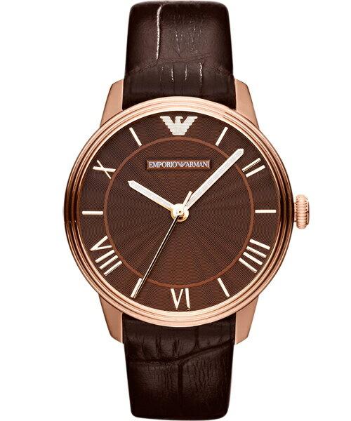 EMPORIO ARMANI/AR1619品味生活時尚腕錶/咖啡面33mm