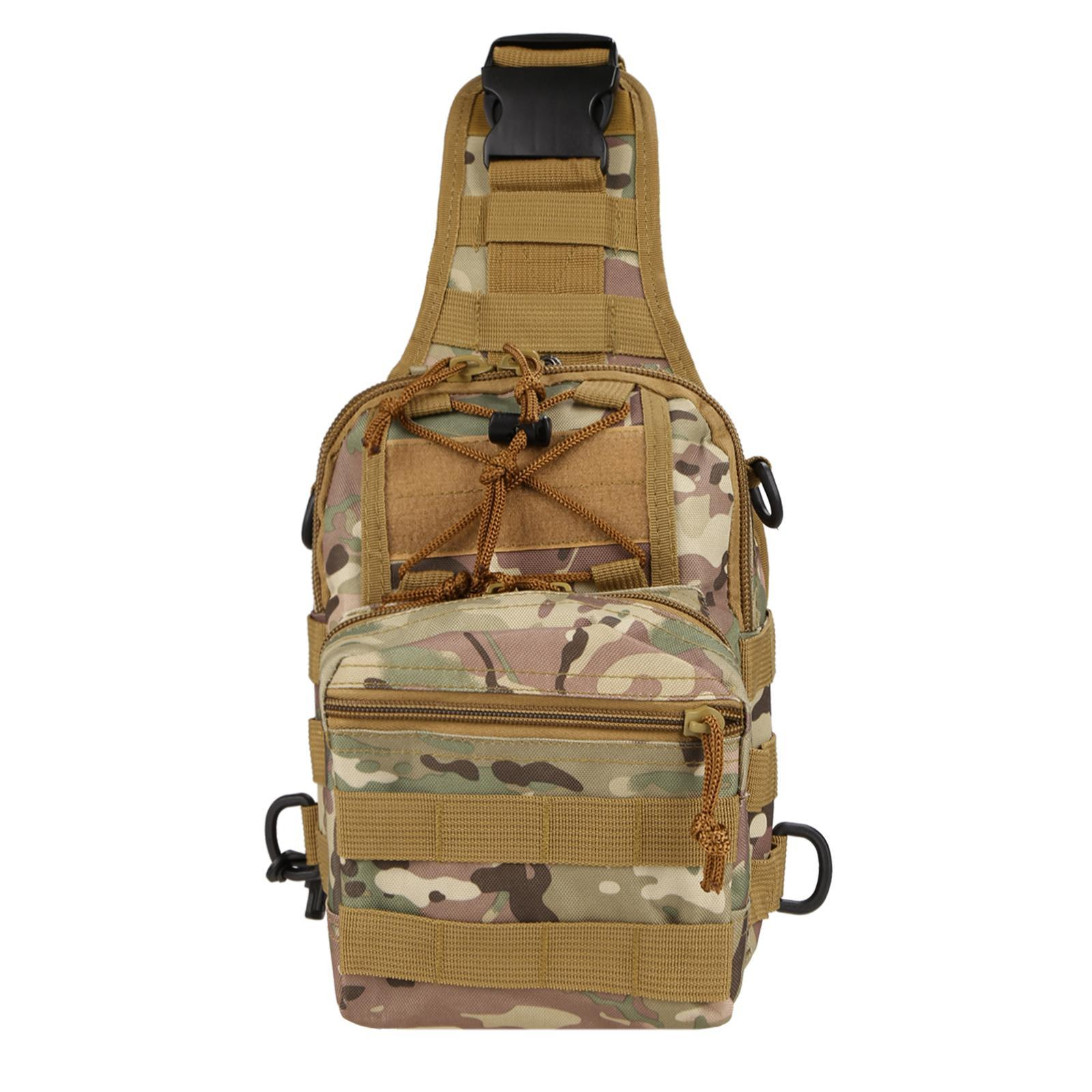 Canvas Multifunction Outdoor Casual Chest Pack Shoulder Bag 3