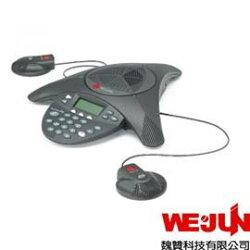 Polycom SoundStation2EX+2Mics - 電話會議系統.適用於中型會議室.支援類比接線 (網路會議.視訊通話.電話會議皆適用)