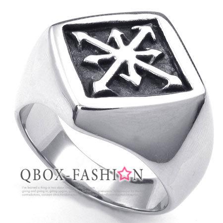 《 QBOX 》FASHION 飾品【W10023185】精緻個性北極星光316L鈦鋼戒指/戒環