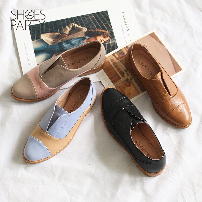 【C2-18740L】簡約真皮復古紳士鞋_Shoes Party 0