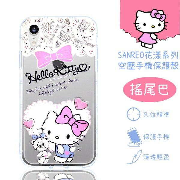 【HelloKitty】iPhoneXR(6.1吋)花漾系列氣墊空壓手機殼