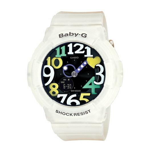 CASIO BABY-G BGA-131-7B4霓虹白雙顯流行腕錶/白面42.8mm