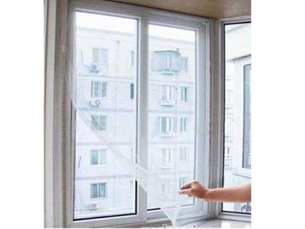 BO雜貨【SV6101】時尚DIY自粘型防蚊紗窗 防蚊 窗簾 1.3m*1.5m