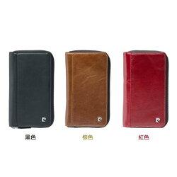 【新風尚潮流】皮爾卡登 IPHONE 6 S PLUS 拉鍊包 手機套 保護套 皮套 PCL-P10-IP6-Plus