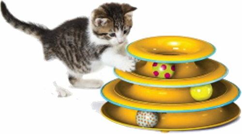 +貓狗樂園+ Petstages【Playing歡樂玩伴系列。317。旋轉軌道球】610元 1