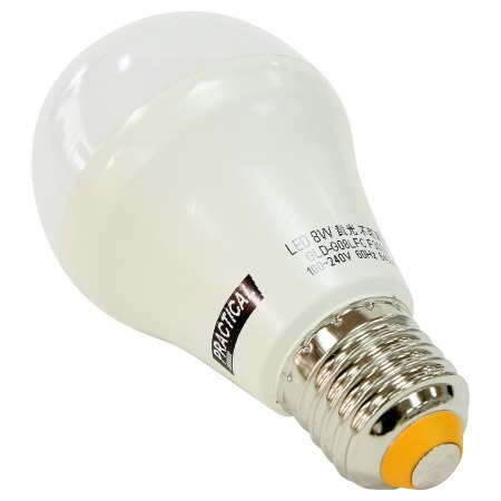 LED燈泡8W 黃光 PT~LE8WDC