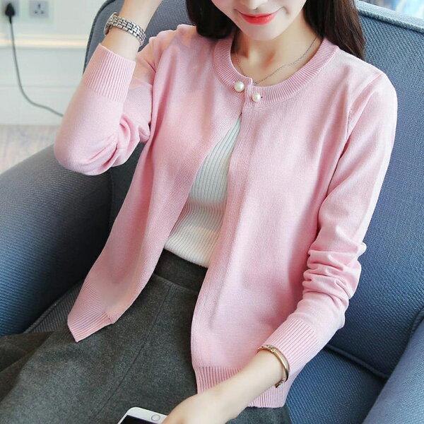韓風衣舍:韓版時尚針織外套6色韓風衣舍小中大尺碼現貨+預購