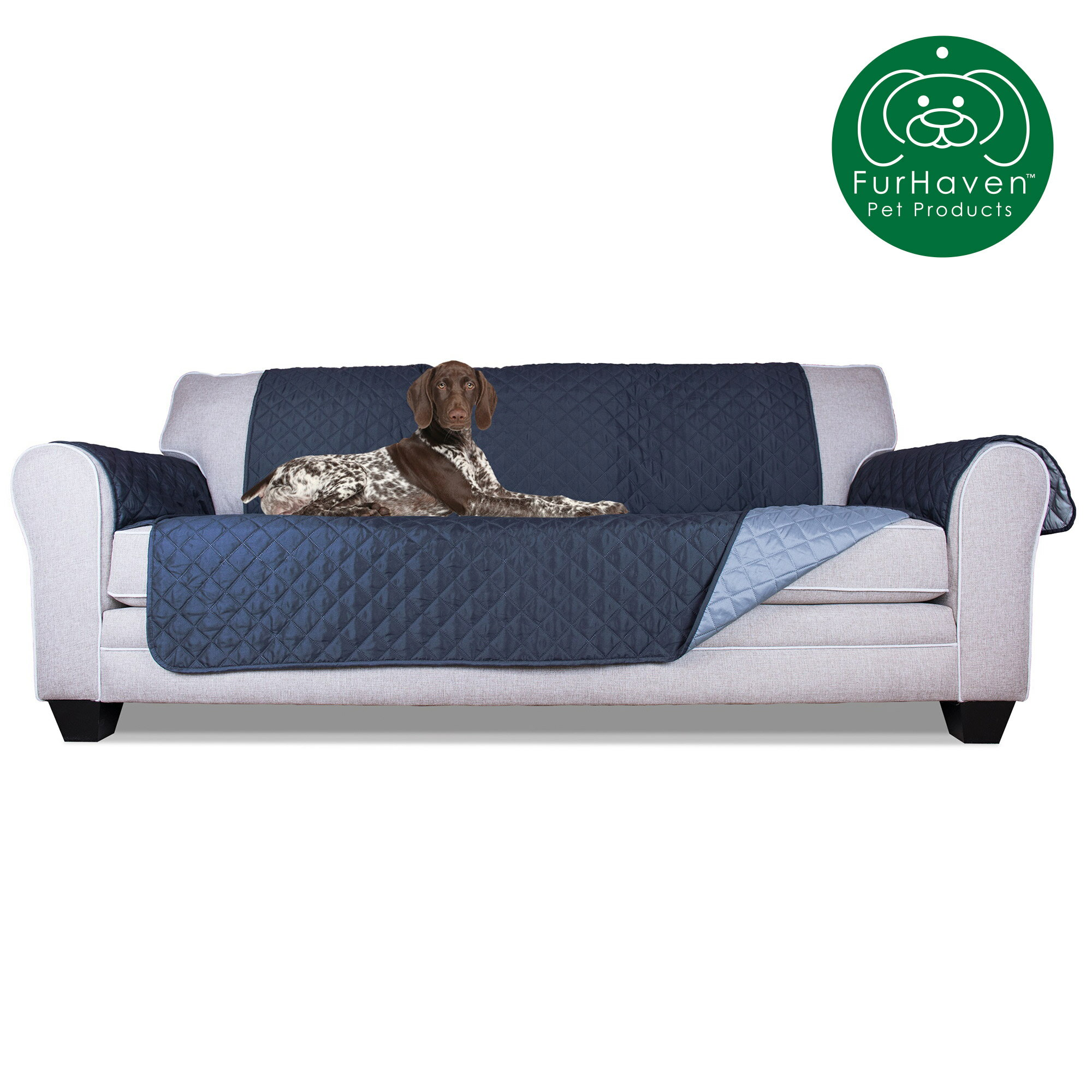Gray//Mist Large Fur Haven 49401017 Sofa Buddy Pet Bed Furniture Cover