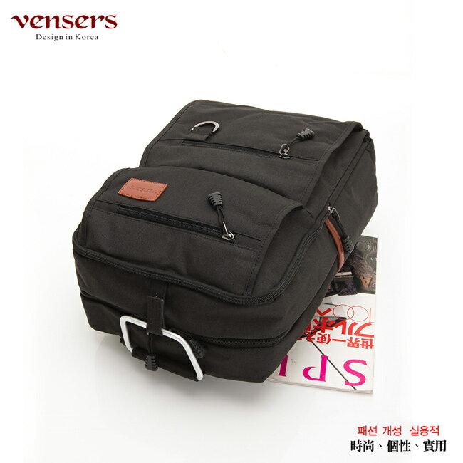 【vensers】簡約丹寧牛仔後背包(R00066101黑色) 2