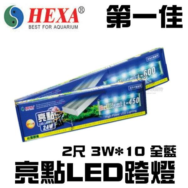 [第一佳水族寵物]台灣HEXA海薩亮點LED跨燈L6002尺3W*10全藍免運