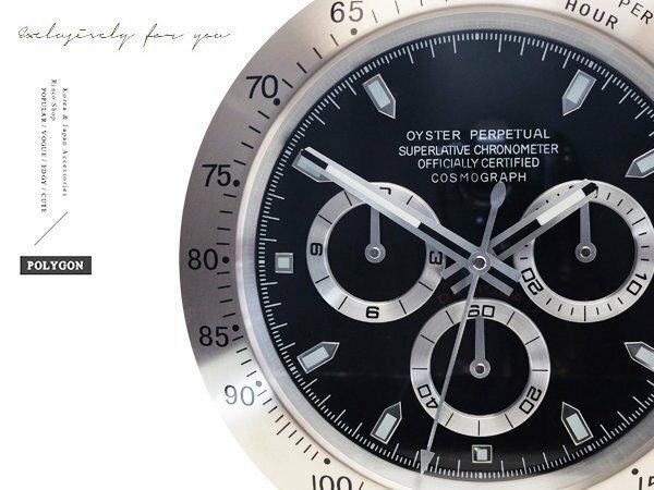 完全計時手錶館│SUBMARINER 獨家典藏 簡約經典名品設計 三眼掛鐘 時鐘壁鐘 現貨 黑 經典