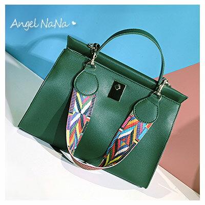 AngelNaNa:手提包-彩色織帶肩帶專櫃品質側背包斜背包AngelNaNa【BA0277】