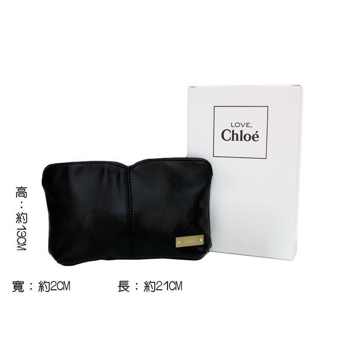 CHLOE 經典黑色化妝包/手提袋(包)/化妝袋 ☆真愛香水★