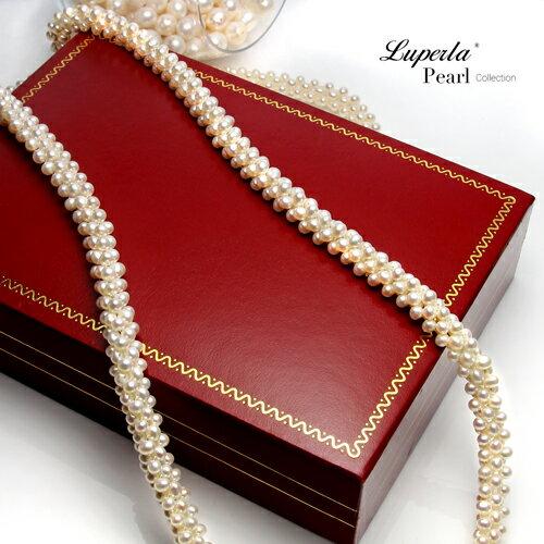 大東山珠寶 法式優雅 天然珍珠項鍊 歐美古典編織珠寶 6