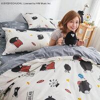 床包兩用被套組 / 雙人-100%精梳棉【奧樂雞的遊樂園】含兩件枕套 獨家人氣插畫家 聯名款 戀家小舖 台灣製 0