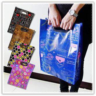 【aife life】手提花漾防水購物袋/文件袋/手提袋/補習袋/手提包/環保購物袋