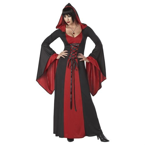 Deluxe Hooded Robe Adult Costume (Red)