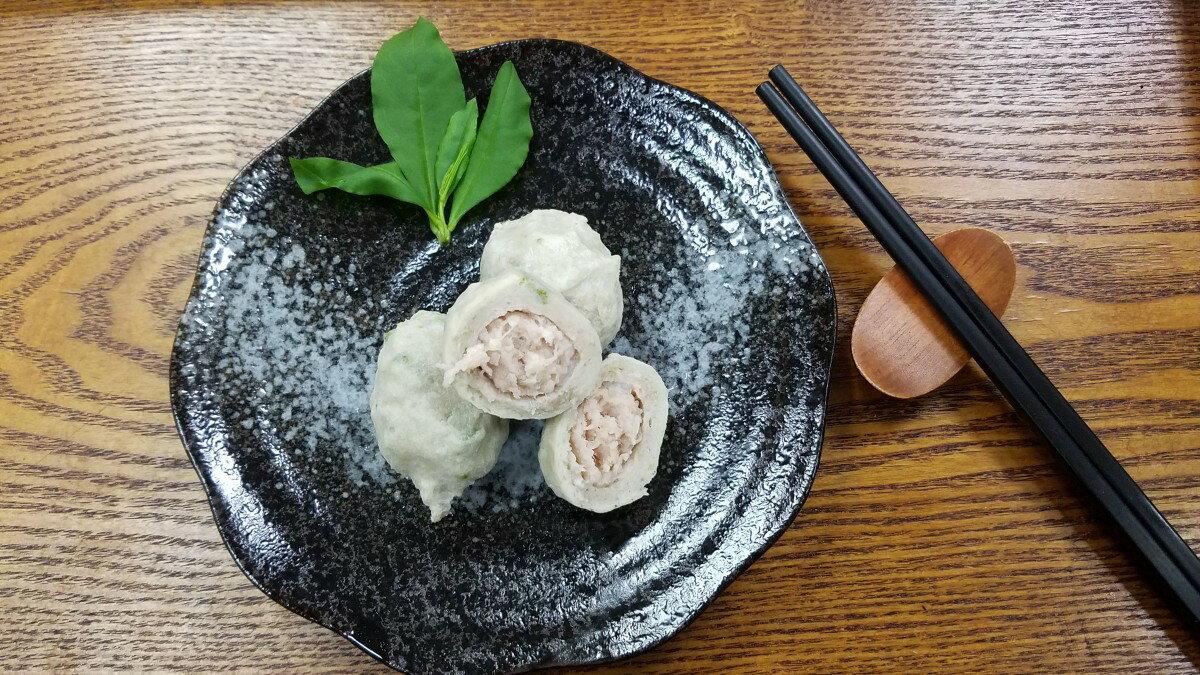 芥末丸-【利津食品行】火鍋料 關東煮 芥末 包餡 魚丸 冷凍食品