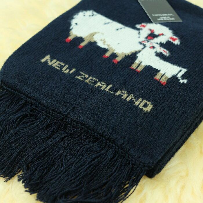 紐西蘭100%純羊毛圍巾*深藍色(羊咩咩)
