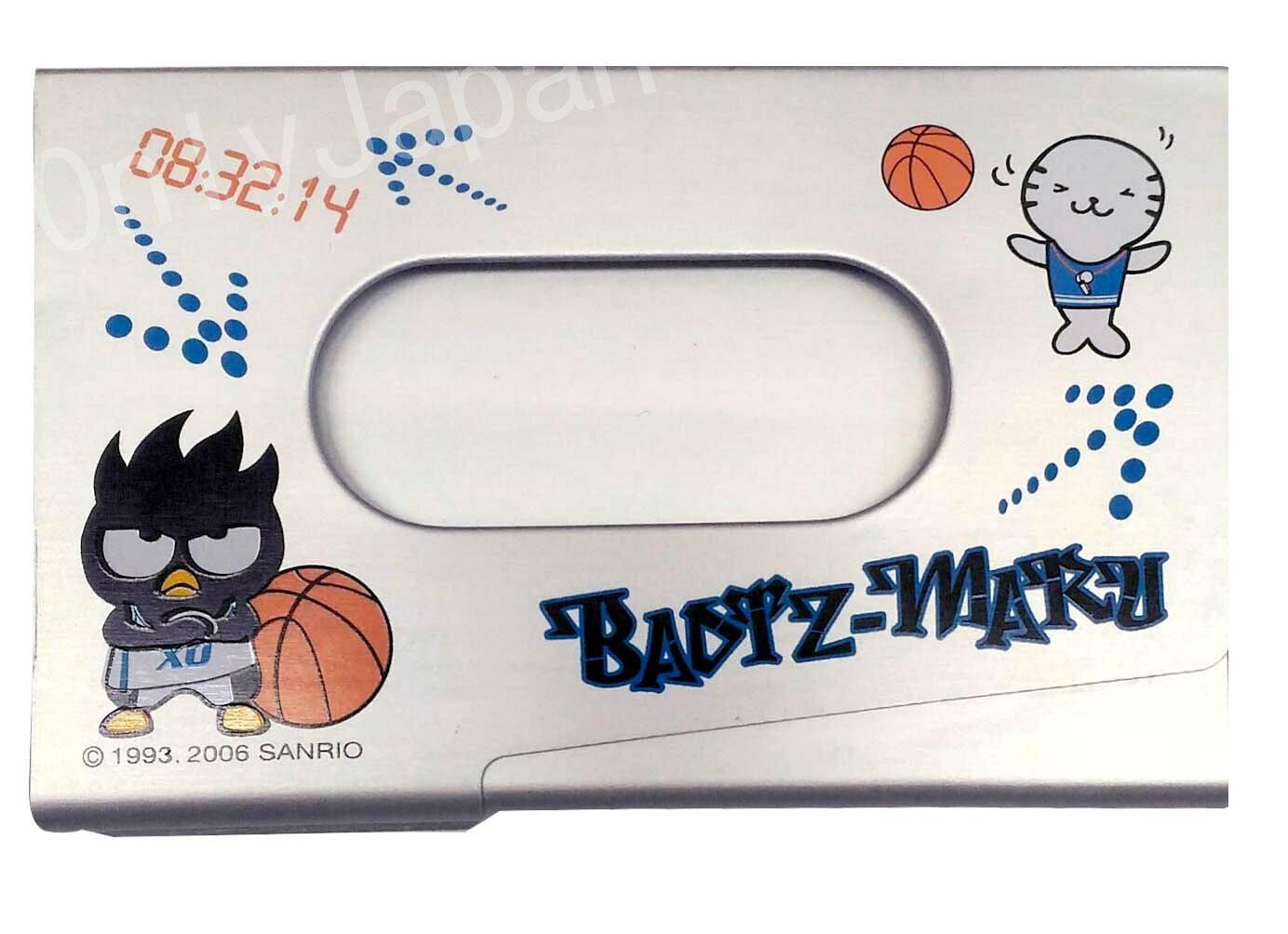【真愛日本】12122300007 金屬名片盒-籃球 三麗鷗 酷企鵝 xo 名片盒 小物收納盒 辦公事務用品 日用品