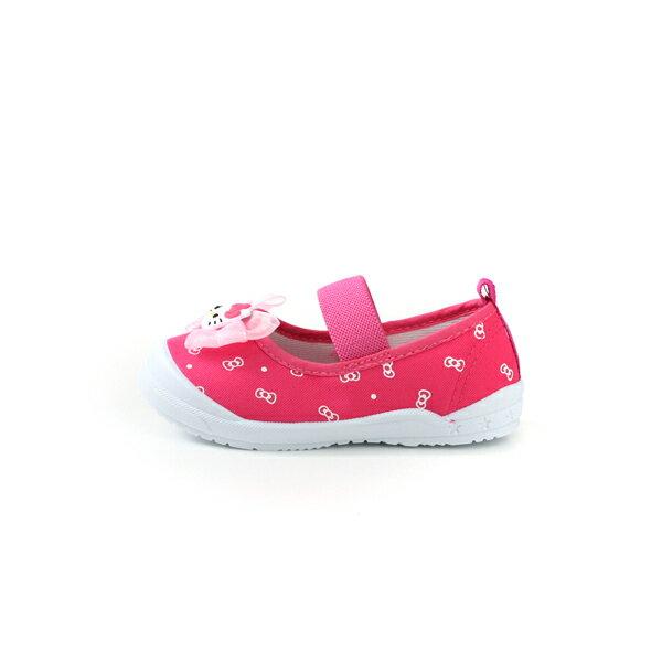 Hello Kitty 凱蒂貓 娃娃鞋 室內鞋 桃紅色 中童 童鞋 719818 no785 5