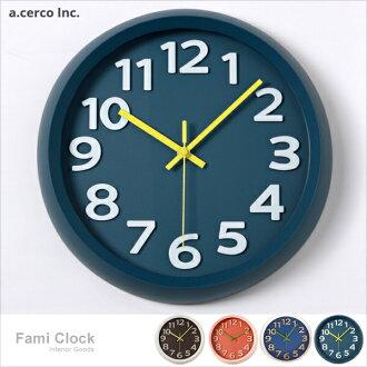 E&J【019005】a.cerco 簡約Fami掛鐘 時鐘/鬧鐘/loft風/工業風/無印風/設計時鐘/無印風格/北歐
