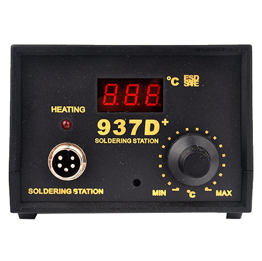 Hot 937D+ Soldering Station JP Heater Iron Welding Solder SMD Tool 5 Tips Stand ESD 8