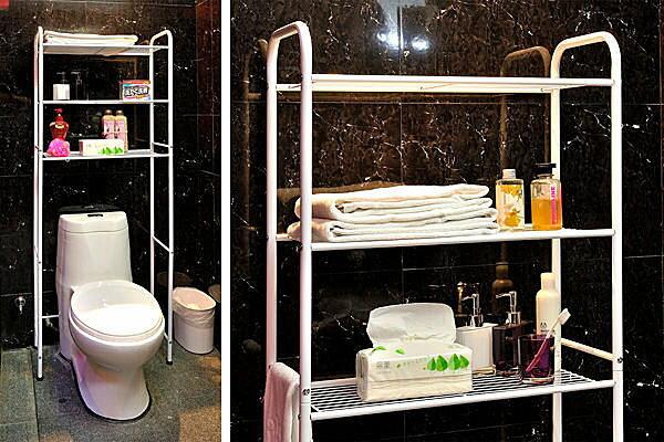 BO雜貨【YV2421】ikloo~台灣製站立式馬桶置物架 洗衣機置物架 浴室收納架 浴室置物架