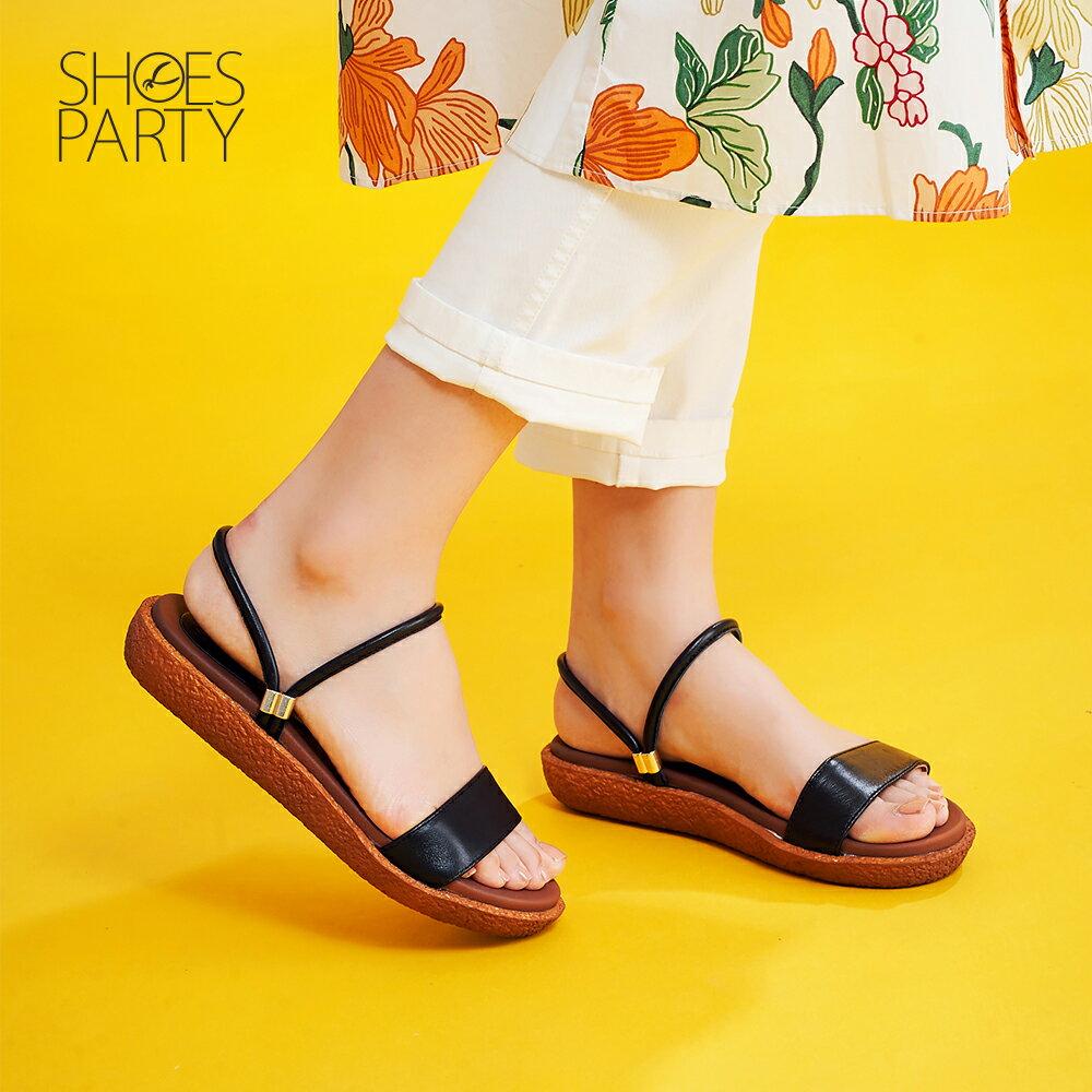 【S2-19628L】Simple+久走不累一字帶兩穿涼鞋_Shoes Party 1