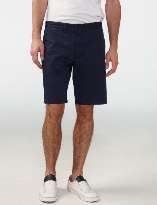 美國百分百【全新真品】Armani Exchange 短褲 AX 褲子 休閒褲 五分褲 素面 深藍色 H907