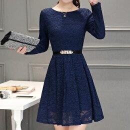 韓版 蕾絲收腰小香風 洋裝 同款腰帶 風衣 中大尺碼 現貨+預購