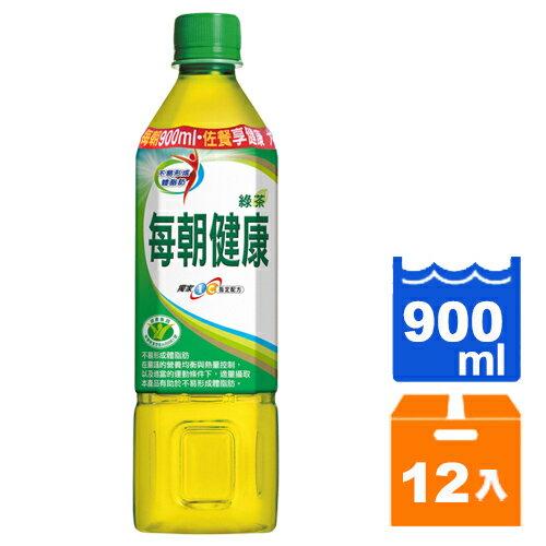 【免運/聯新貨運】每朝健康綠茶900ml(12瓶/箱)-01