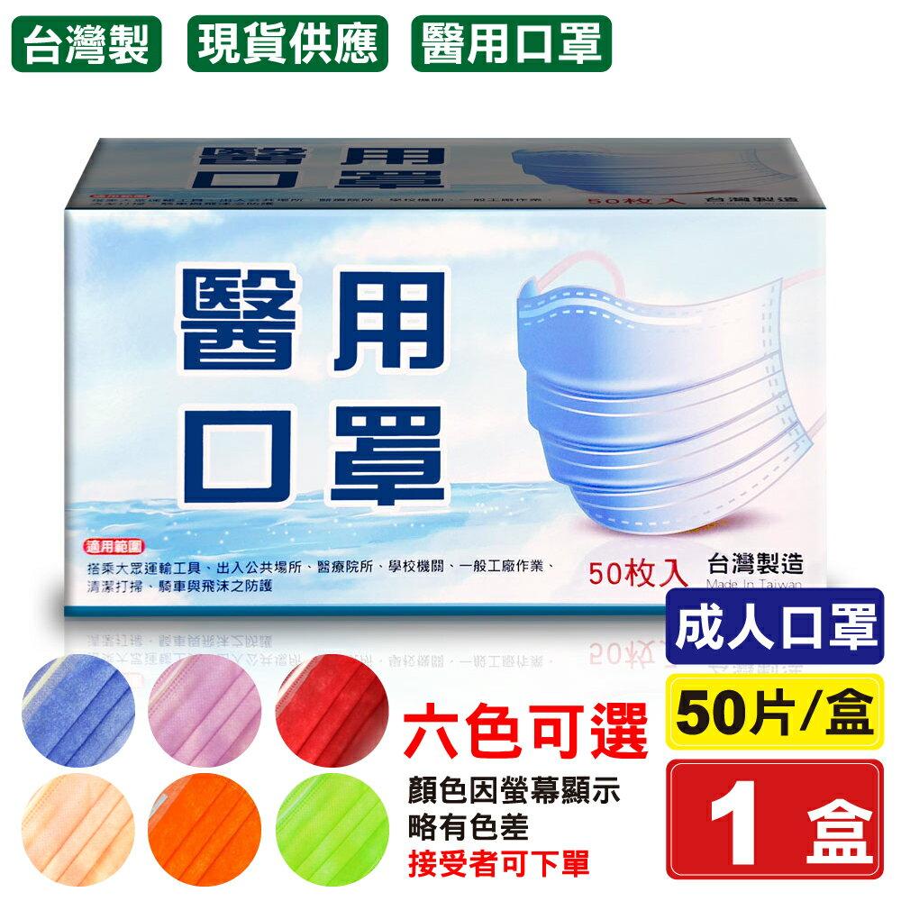 (一次6盒單盒433元)(顏色可選) 久富餘 醫用口罩 醫療口罩 (愛馬仕橘/桃粉/粉橘/西瓜紅/牛仔藍/酪梨綠) 50入/盒 (台灣製造 中衛 麥迪康 CNS14774)