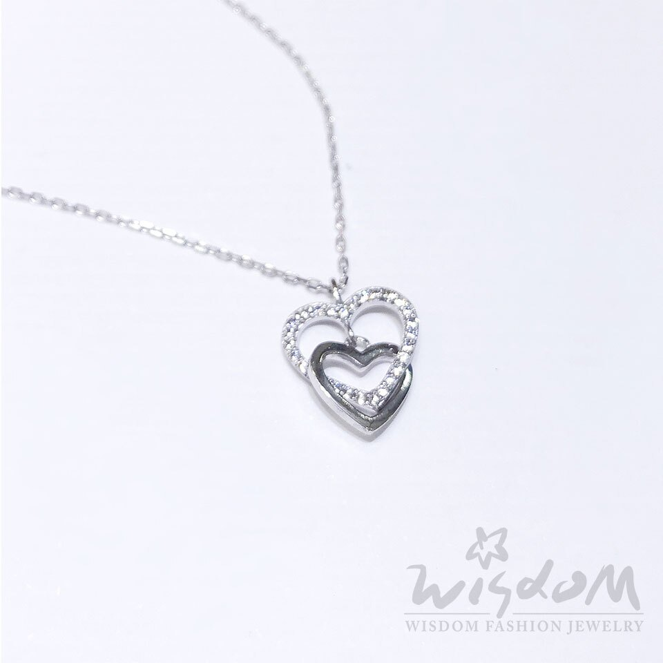 威世登時尚珠寶-窩心銀小套鍊 ZSB00052 -BFHX
