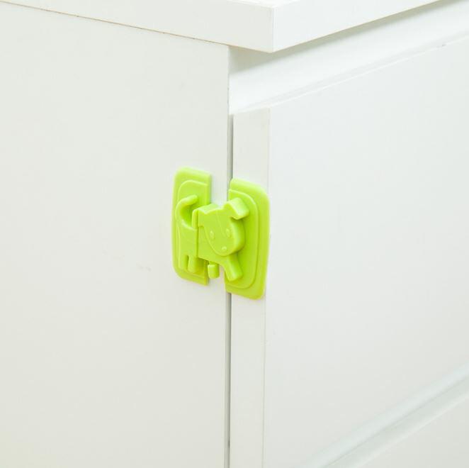 【省錢博士】創意卡通小狗兒童安全鎖 / 安全門卡櫥櫃冰箱 / 安全鎖扣  19元