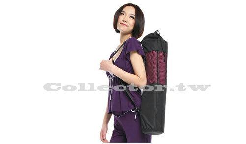 【B17081501】黑色瑜伽墊專用多功能網袋 便攜帶簡易瑜珈透氣網袋