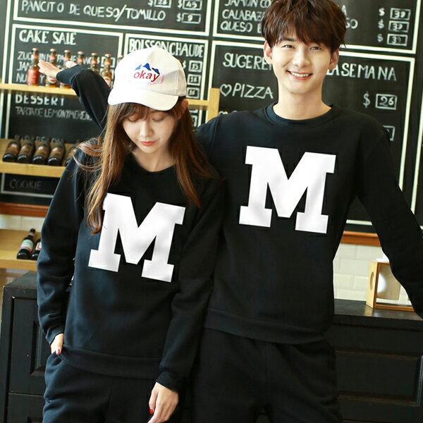 ◆快速出貨◆刷毛T恤 圓領刷毛 情侶T恤 暖暖刷毛 MIT台灣製.字母大M【YS0413】可單買.艾咪E舖 3