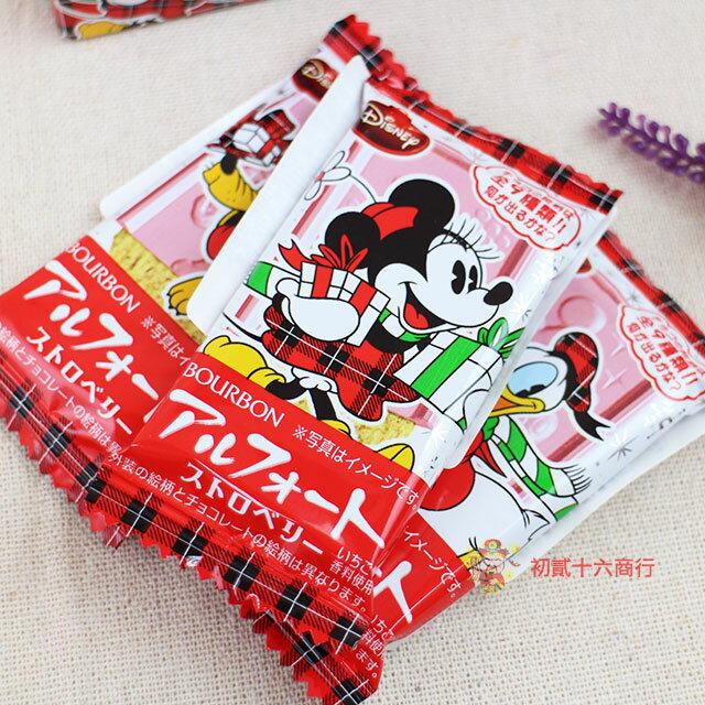 【0216零食會社】日本BOURBON-迪士尼巧克力餅乾(草莓味)