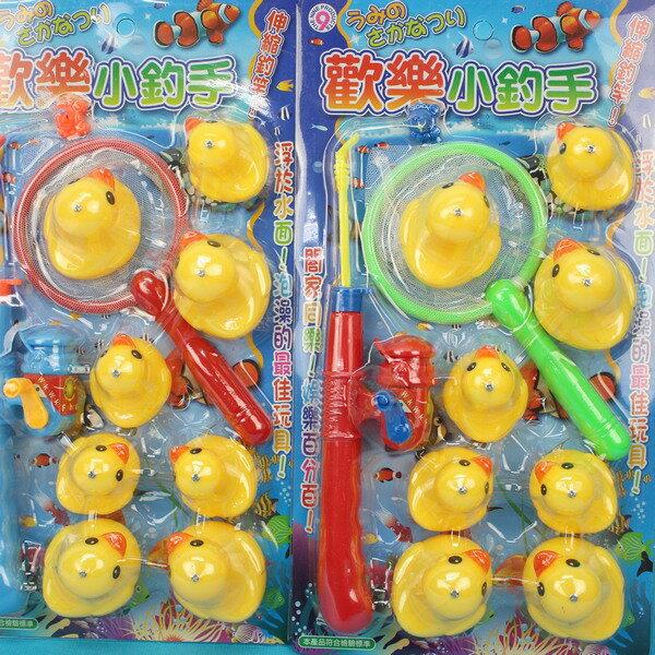 黃色小鴨釣魚組 ST-030 8隻小鴨小釣手釣鴨樂/一卡入{促150}日系戲水童玩釣魚組~生D450