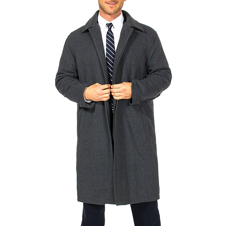 Alpine Swiss Men's Zach Knee Length Jacket Top Coat Trench Wool Blend Overcoat 1