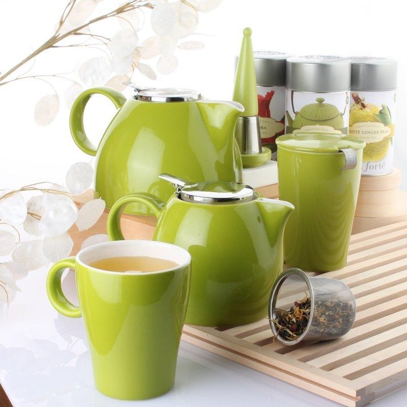 Tea Forte 普格陶瓷茶壺 - 白瓷 Orchid White  送 罐裝茶(隨機出貨) 3