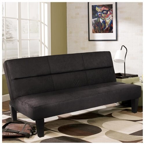 Bcp Microfiber Futon Folding Couch Sofa Bed Sleep Recliner Lounger Black 0