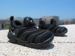 Shoestw【343938-004】NIKE DYNAMO FREE 童鞋 毛毛蟲 小童鞋 全黑 可凹折
