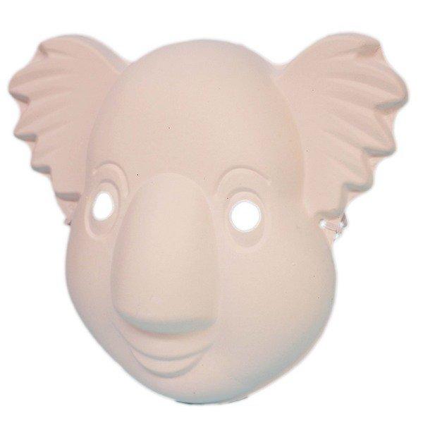 無尾熊面具 空白面具 彩繪面具/一袋20個入(定40) 附鬆緊帶 DIY面具 紙面具 空白面具 空白眼罩 紙漿面具-AA3968