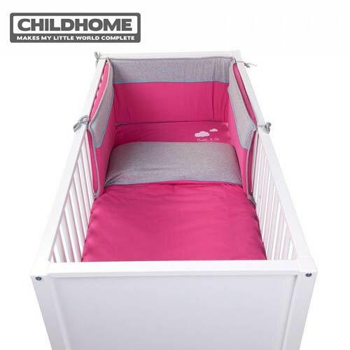 【安琪兒】比利時【Childhome】安全床圍-蜜桃粉 - 限時優惠好康折扣
