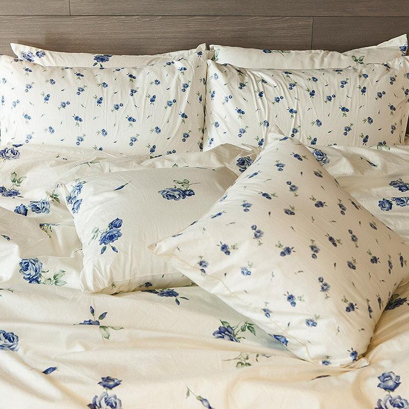 床包被套組  /  雙人- 100%精梳棉【玫果雪酪-兩色】含兩件枕套 在巴黎遇見系列 浪漫碎花 戀家小舖 台灣製 6